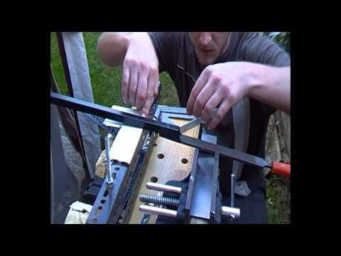 Knife Making Re-visited, Bevel Grinding File Jig Set-up