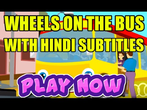 Wheels On The Bus with Hindi Subtitles - Nursery Rhymes & Songs...