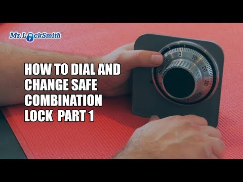 How to Dial and Change Safe Combination Lock Part 001   Mr. Locksmith Training Video