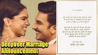 DeepVeer Marriage Date Announcement | Mark Your Calendar for Ranveer & Deepika Marriage