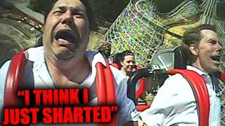 Top 5 FUNNIEST ROLLER COASTER FREAKOUTS!