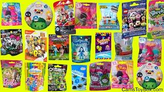 25 Blind Bags Opening Trolls PJ Masks Disney Crossy Road BArbie Monster High Squinkies Lego Toys