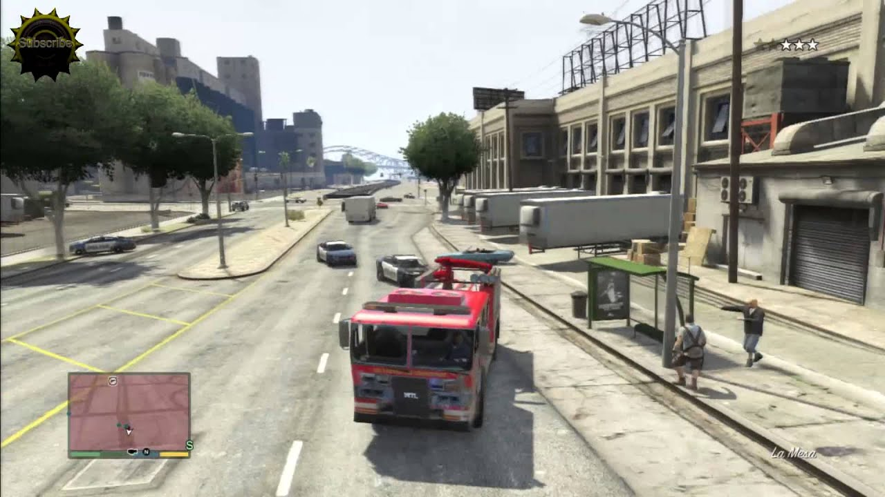 gta 5 fire truck terror cop chase youtube. Black Bedroom Furniture Sets. Home Design Ideas