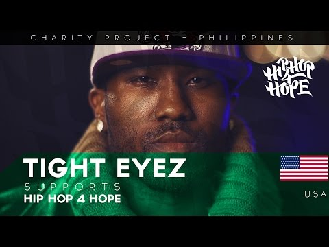 Tight Eyez (USA) supports HIP HOP 4 HOPE - charity project in Philippines