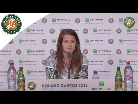 Press conference Lucie Safarova 2015 French Open / Final