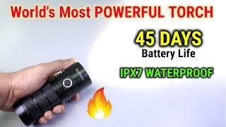 World's Most POWERFUL TORCH - 45 DAYS Battery Life | uTorch SP36