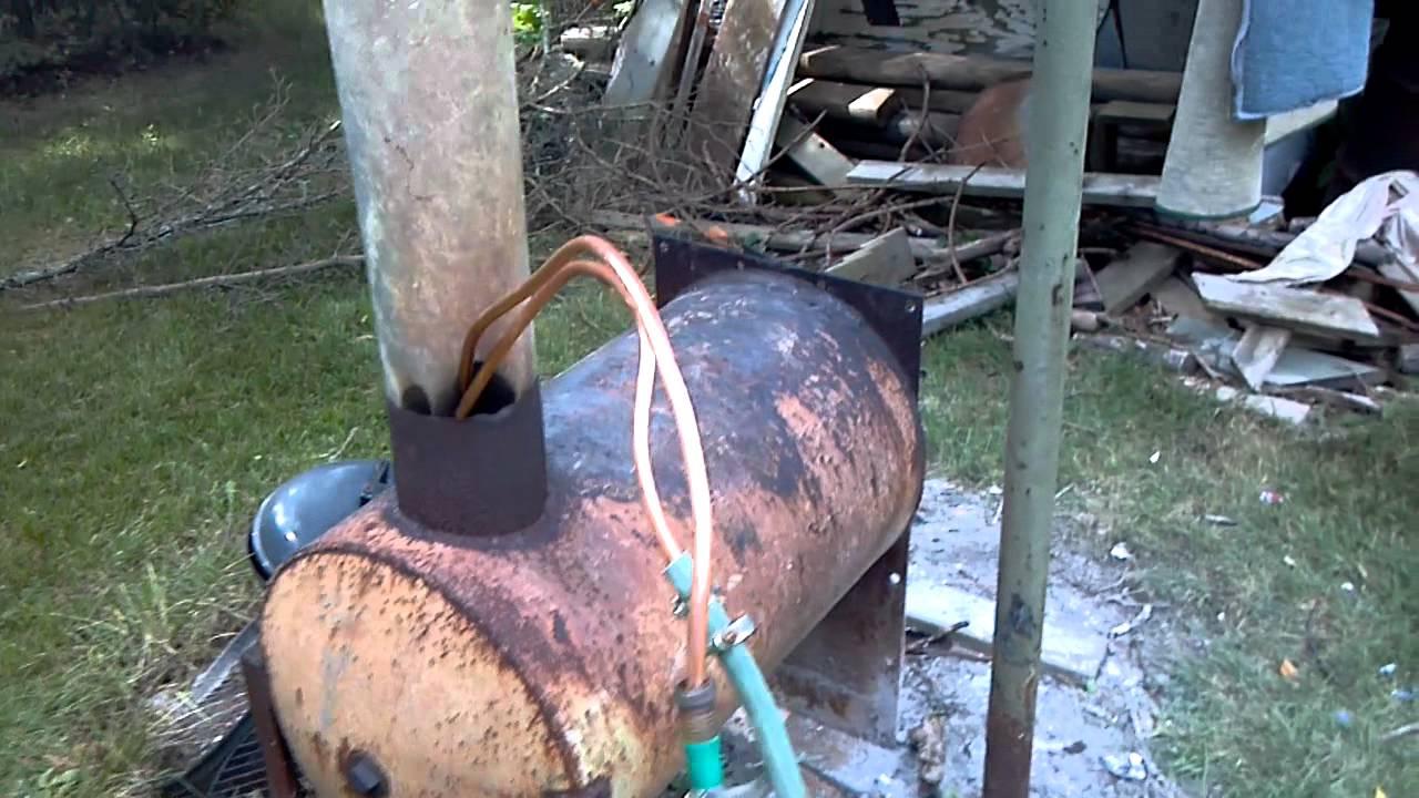 Wood Burning Hot Tub Heater Youtube