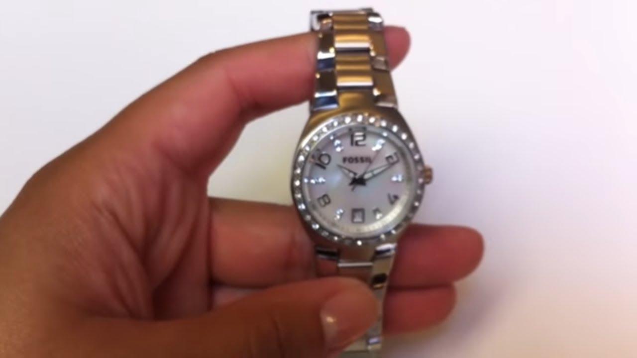Women's Fossil Glitz Watch. AM4141