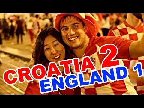 Croatia - England 2:1   Streets of Zagreb after win, Capital of Croatia thumbnail