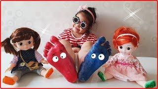 feet painting,color feet /color song,finger family song nursery rhymes /kids song collection.