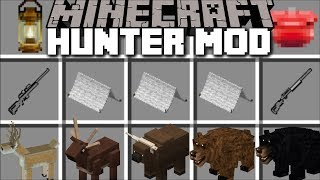 Minecraft HUNTER MOD / FIGHT AND SURVIVE THE NIGHT IN A TENT WHILST CAMPING!! Minecraft