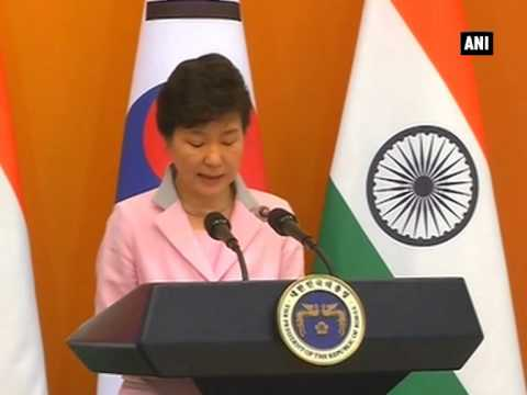PM Modi and S Korean Prez Park Geun-hye's joint statement and agreement signing ceremony (Part - 1)