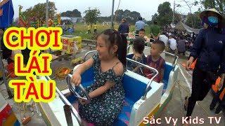 Trò chơi đoàn tàu - Chơi Xúc Cát | Sắc Vy Kids TV