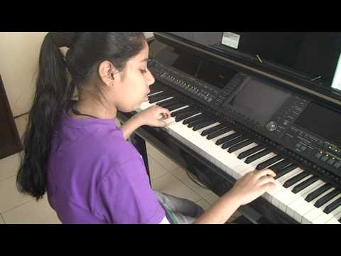 Nandini playing on Piano ... Dhadang Dhang ... Rowdy Rathore
