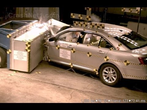 2013 Ford Taurus | Frontal Oblique Offset (35% Overlap, Driver) Crash Test by NHTSA | CrashNet1