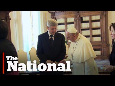 Pope Francis, Stephen Harper meet at Vatican