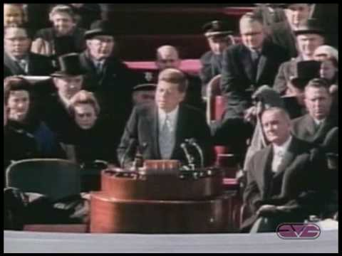 President John F. Kennedy Inaugural Address ask Not What Your Country Can Do For You video