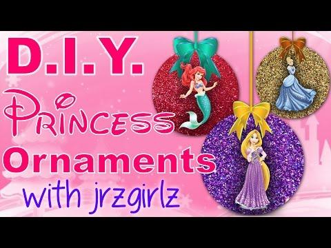 DIY Disney Princess Christmas Ornaments with Jrzgirlz!   Snow White. Rapunzel. Cinderella + More!
