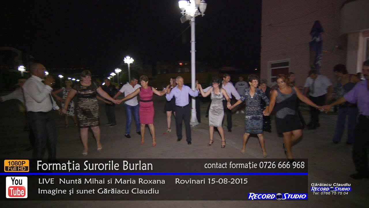 ♫ Surorile Burlan Colaj HORA part.3 LIVE Nunta Mihai si Maria Roxana 15-08-2015