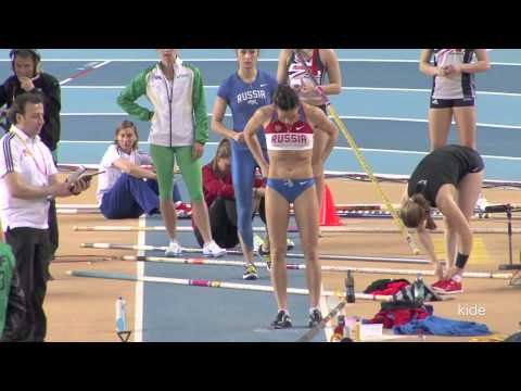 Yelena Isinbayeva jumped in good shape from practice istanbul 2012