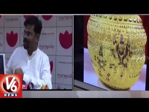 Manepally Jewellers Making golden Bonam For Secunderabad Ujjaini Mahankali Goddess | V6 News