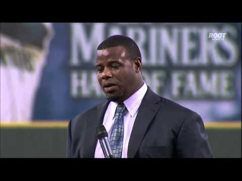 Ken Griffey Jr. MARINERS HALL OF FAME SPEECH Jay Buhner flips him off, gives him the middle finger