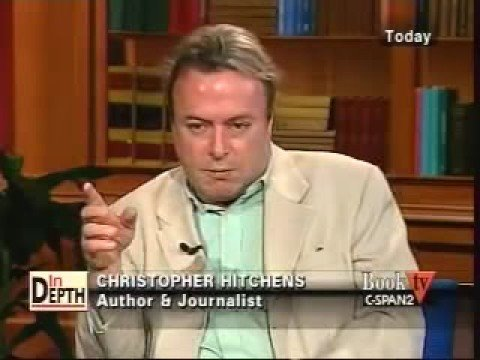 Christopher Hitchens briefly mentions the Scam of $cientology in this interview at around 2:18 mins.