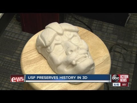 USF preserves history in 3D using lasers