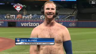 Pete Alonso Joins MLB Network SHIRTLESS