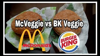 McVeggie vs BK Veggie| McDonald's vs Burger King| Taste, Price & Nutritional Information (Hindi)