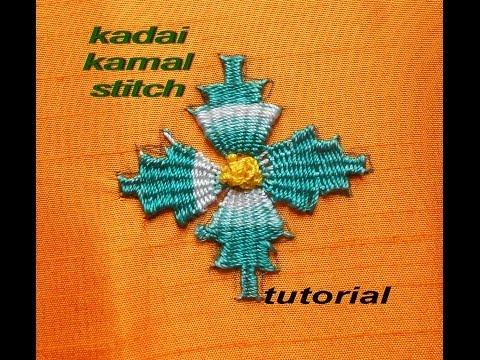 Hand Embroidery Kadai Kamal Stitch Tutorial  BORDADO
