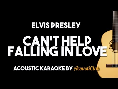 Elvis Presley   Can  39 t Help Falling in Love  Acoustic Guitar Karaoke Lyrics on Screen