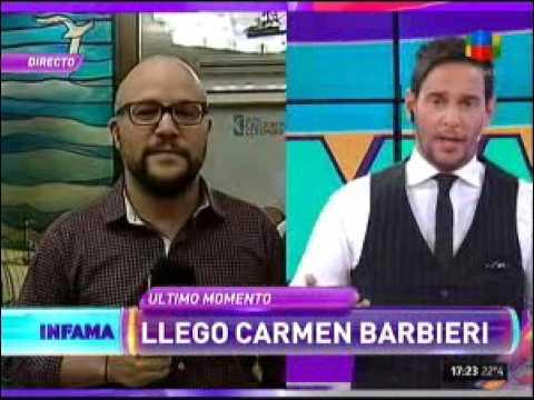 Carmen Barbieri se enfureció con Tempone y no quiso hablar con Infama