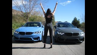 "2018 BMW M4 vs M3 / Exhaust Sound / 20"" M Wheels / Competition Package  / BMW Review"