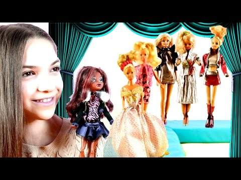Одевалки #Барби 👗 Показ Мод 👑 Конкурс от Монстер Хай и Светы #лучшиеподружки 👯