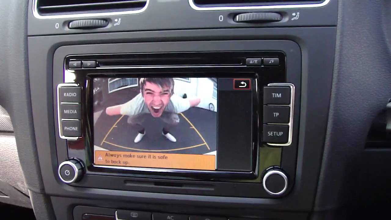 Golf Mk 6 Rear View Camera With Rcd 510 Touch Screen And