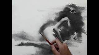 Female figure drawing demo by Zimou Tan