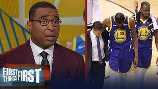 Cris and Nick on reports Kevin Durant suffered Achilles injury in GM 5 | NBA | FIRST THINGS FIRST