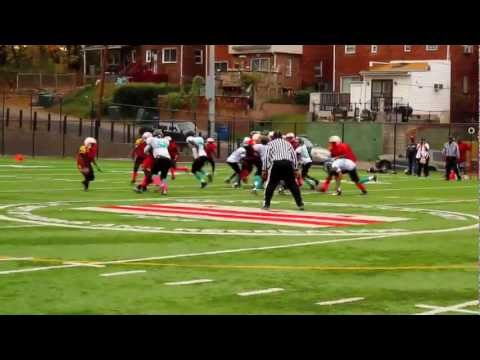 GMYFL 2012 1st Rd Playoffs Baltimore Terps VS West Laurel Stallions 14U.