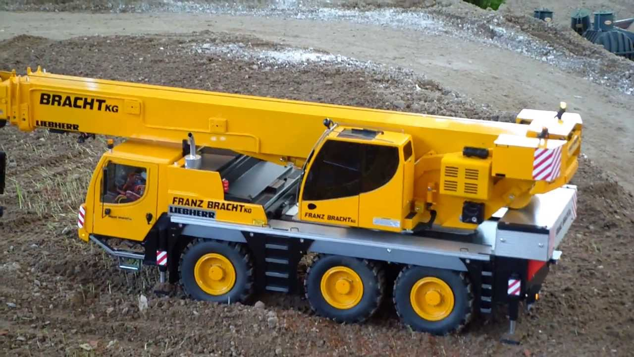 Construction Site Toys : Rc crane cat excavator construction site big