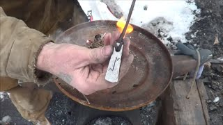 Blacksmithing - Forging A Viking Rune Fire Steel And Making Fire With It
