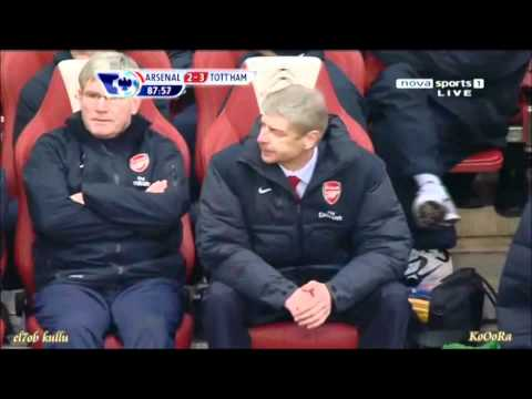 Arsene Wenger Throws Bottle!!! Very Funny!! Must See!!!