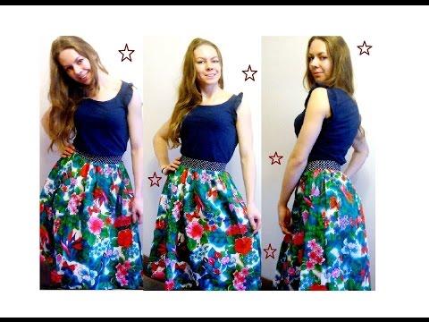 Как сшить из летнего платья юбку