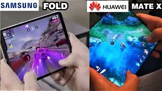 Samsung Fold VS Huawei Mate X Comparison With Gaming, Camera, Display, Battery & Price