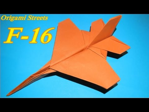 Как сделать самолет ф 16 из бумаги видео
