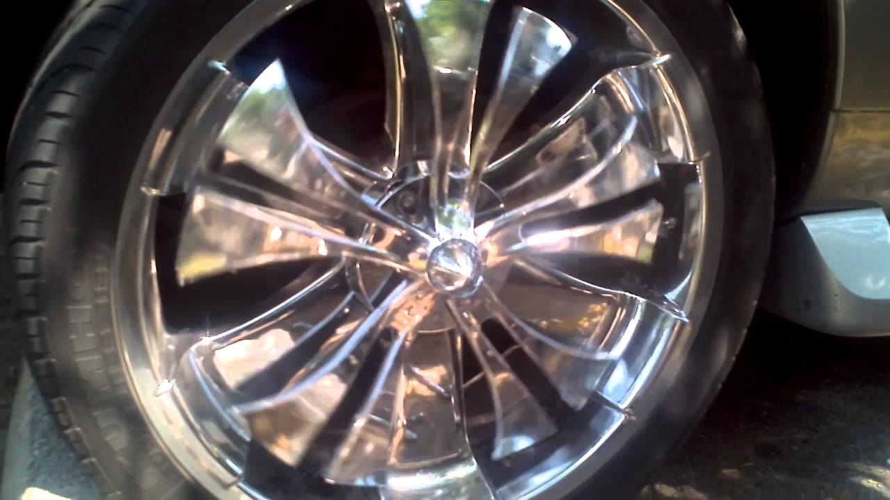 Escalade With 24 Quot Wheels Spinners Youtube