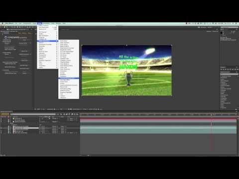 Using CINEMA 4D Lite in After Effects CC