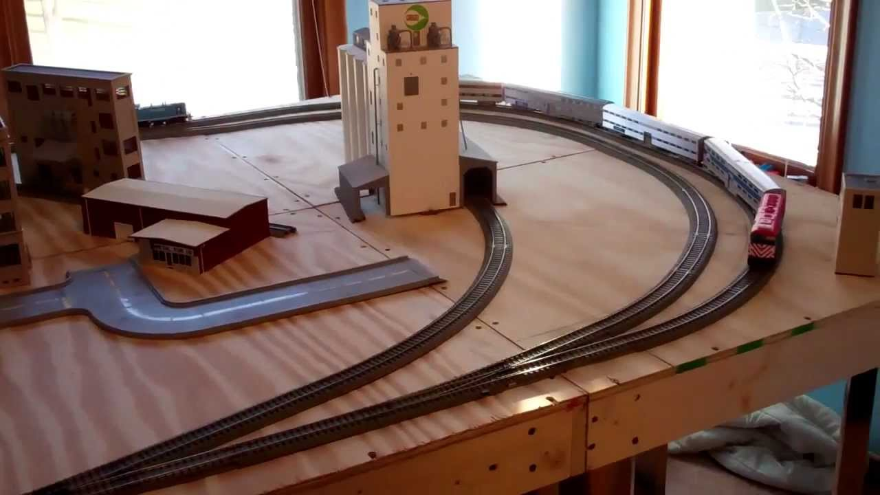 A Metra Train On My Ho Scale Layout Temporary Track