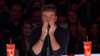 America's Got Talent 2016 Audition - Richie the Barber Circus Clown Tattooed Clown Scares Simon