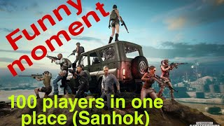100 PLAYERS JUMP IN SANHOK (QUARRY) FUNNY MOMENT